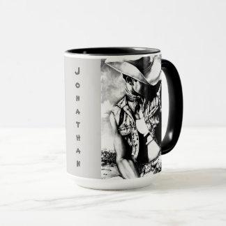 """Personalisierter großer Tassen-""""feine Kunst-Cowboy Tasse"""