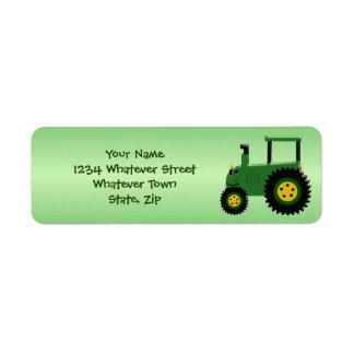 Personalisierter grüner Traktor