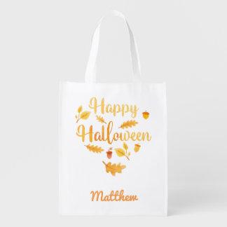 Personalisierter Halloween-Eichel-Trick-oder Wiederverwendbare Einkaufstasche