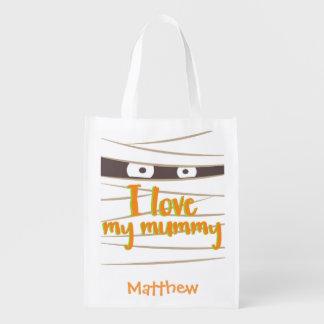 Personalisierter Halloween-Mama-Trick-oder Wiederverwendbare Einkaufstasche