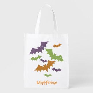 Personalisierter Halloween-Schläger-Trick-oder Wiederverwendbare Einkaufstasche