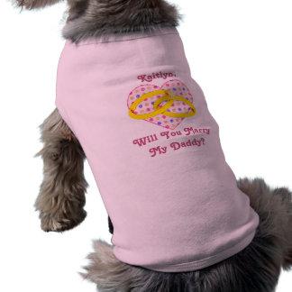 Personalisierter Heirat-Antrag heiraten meinen Ärmelfreies Hunde-Shirt