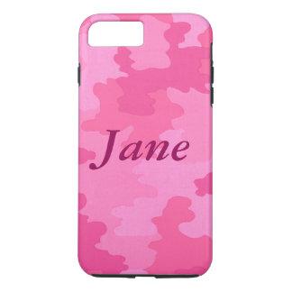 Personalisierter heißes Rosa-Tarnung iPhone 7 Fall iPhone 8 Plus/7 Plus Hülle