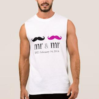 Personalisierter Herr u. Herr Mustache T-Shirt