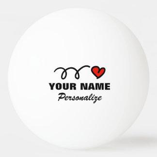 Personalisierter Herz Ping pong Ball für Tischtennis Ball