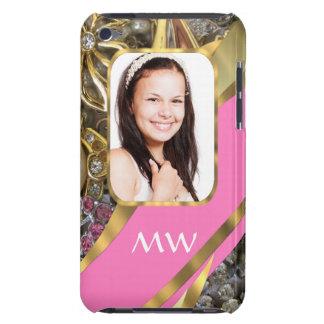 Personalisierter Hintergrund des rosa Schmucks iPod Touch Hülle