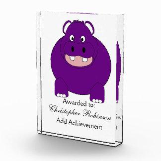 Personalisierter Hippopotamus-Entwurf Auszeichnung