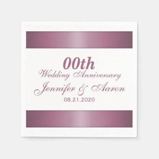Personalisierter Hochzeits-Jahrestag Serviette