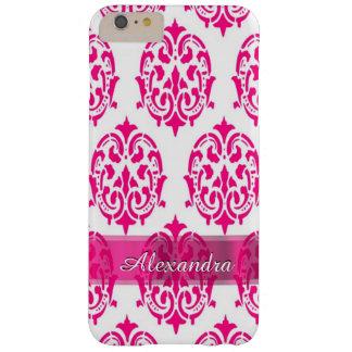 Personalisierter hübscher heißes Rosa- und Barely There iPhone 6 Plus Hülle
