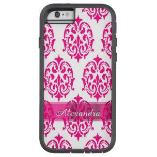 Personalisierter hübscher heißes Rosa- und Tough Xtreme iPhone 6 Hülle