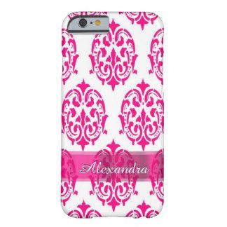 Personalisierter hübscher heißes Rosa- und Barely There iPhone 6 Hülle