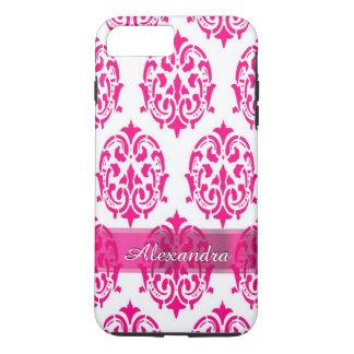 Personalisierter hübscher heißes Rosa- und iPhone 7 Plus Hülle