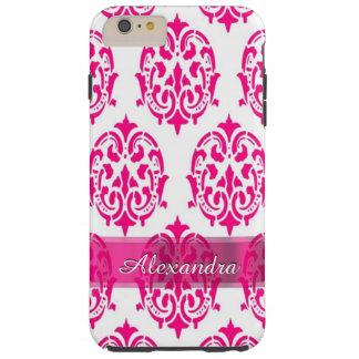 Personalisierter hübscher heißes Rosa- und Tough iPhone 6 Plus Hülle