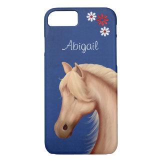 Personalisierter hübscher Palomino-PferdiPhone 7 iPhone 8/7 Hülle