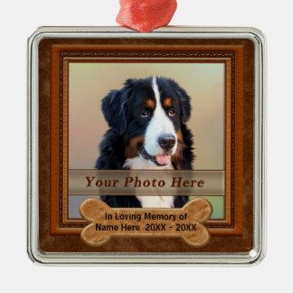 Personalisierter Hund Erinnerungsgeschenke IHR Silbernes Ornament
