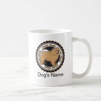 Personalisierter Hundechow-chow Chow-Chow mit Kaffeetasse