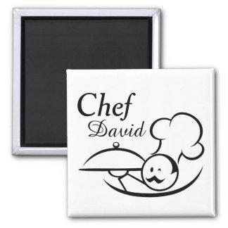 Personalisierter illustrierter Koch Quadratischer Magnet