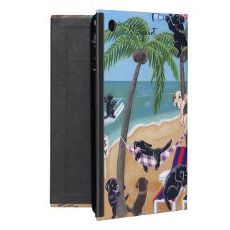 Personalisierter Insel-Sommer-Ferien Labradors iPad Mini Schutzhülle