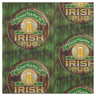 Personalisierter irischen Pub-Zeichen-Namensst Stoff