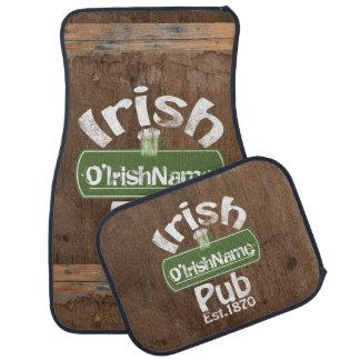 Personalisierter irischer Pub-altes Auto Fussmatte