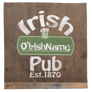 Personalisierter irischer Pub-altes Bedruckte Servietten