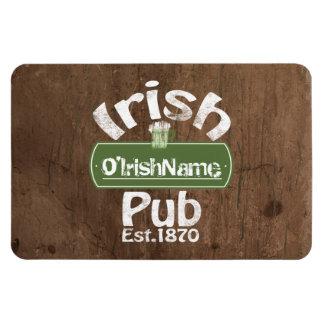 Personalisierter irischer Pub-altes Eckige Magnete