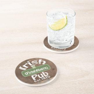 Personalisierter irischer Pub-altes Getränke Untersetzer