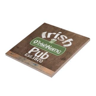 Personalisierter irischer Pub-altes Kleine Quadratische Fliese
