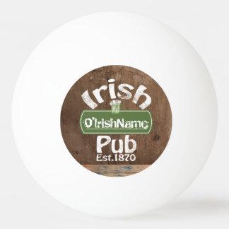Personalisierter irischer Pub-altes Tischtennis Ball