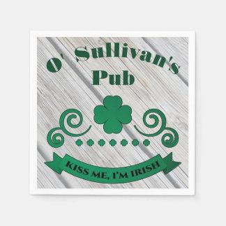 Personalisierter irischer Pub Papierservietten