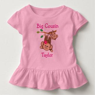 Personalisierter Junge, Mädchen Monkeys großen Kleinkind T-shirt