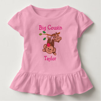 Personalisierter Junge, Mädchen Monkeys großen Kleinkinder T-shirt