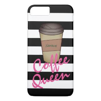 Personalisierter Kaffee-Königin-Telefon-Kasten iPhone 8 Plus/7 Plus Hülle