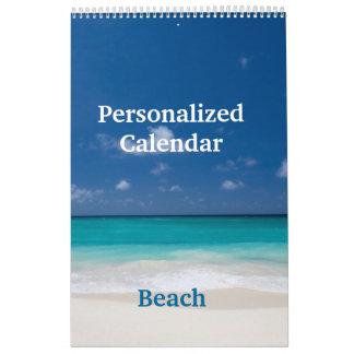 Personalisierter Kalender - Strand