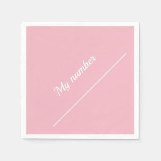 Personalisierter Kalligraphie-Name mein Zahl Rosa Serviette