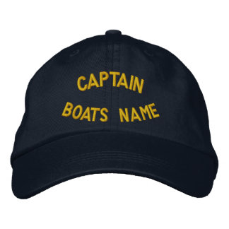 Personalisierter Kapitän mit Ihrem Bootsnamen Besticktes Cap