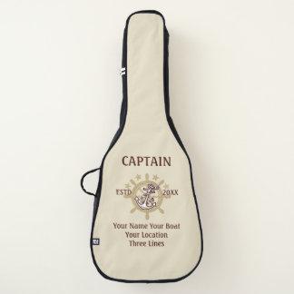Personalisierter Kapitän Name Boat Year und mehr Gitarrentasche