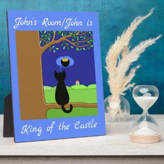 Personalisierter König des Schlosses Fotoplatte