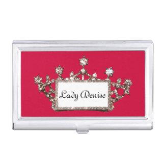 Personalisierter königlicher Tiara Visitenkarten Dose