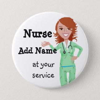 Personalisierter Krankenschwester-Knopf Runder Button 7,6 Cm