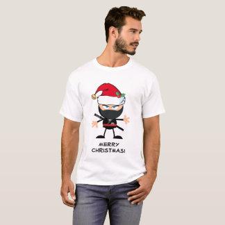 Personalisierter Krieger Weihnachtsmanns Ninja T-Shirt