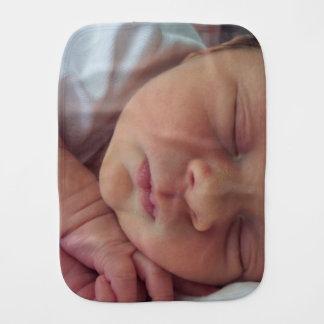 Personalisierter kundenspezifischer Foto Burpstoff Baby Spucktuch