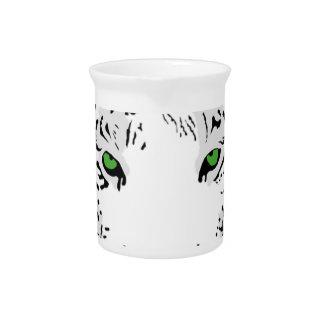 Personalisierter kundenspezifischer Schnee-Tiger Getränke Pitcher