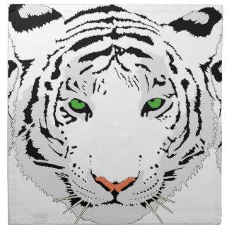 Personalisierter kundenspezifischer Schnee-Tiger Serviette
