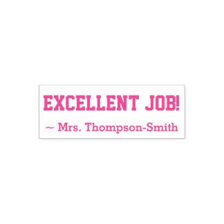 """Personalisierter Lehrer-Name + """"EXECLLENT JOB! """" Permastempel"""