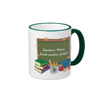 Personalisierter Lehrer Ringer Tasse
