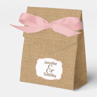 Personalisierter Leinwand-Zelt-Bevorzugungs-Kasten Geschenkkarton