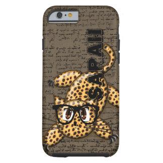 Personalisierter Leopard-Katze iPhone 6 Fall Tough iPhone 6 Hülle