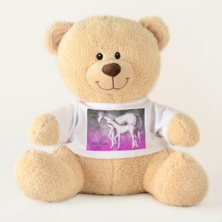 Personalisierter lila Unicorn-Bär Teddy
