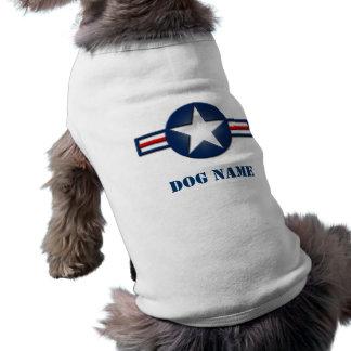 Personalisierter Luftwaffen-Logo-Hundeshirt Top